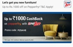 Get 10% cashback upto Rs.1000 on minimum transaction of Rs.2000 on Pepperfry using Payzapp
