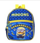 Minions Polyester 21 cms Blue School Backpack (MBE-MIN313)