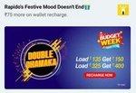 Rapido Budget Week :  Add ₹135 Get ₹150 Add ₹325 Get ₹400
