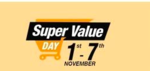 Super Value days - upto 50% off on monthly groceries + 15% discount on sbi cards + 5% as amazon pay balance