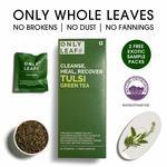 Onlyleaf Tulsi Green Tea, 27 Tea Bags (25 Tea Bags + 2 Free Exotic Samples)