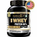 MuscleXP Raw Whey Protein Concentrate 80% Powder, Unflavored, 1Kg (2.2lb)@899