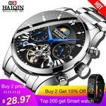 90% Off : HAIQIN men's/mens watches top brand luxury automatic/mechanical/luxury watch men sport wristwatch mens reloj hombre tourbillon