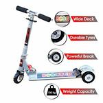 73% Off On  Zest 4 Toyz Kids Skate Scooter with 3 Wheels and 3 Position Adjustable Height (Silver)
