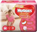 Huggies Ultra Soft Pants Diapers for Girls, Medium (Pack of 30)+ Apply coupon