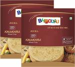 Bhoolku - Wheat Khakhra - Jeera Flavor - Healthy Snack - Tasty and Crispy - Less Oily - NO Cholesterol - Authentic Indian Snack - 400Gm (200GM x 2, Pack of 2 )