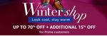 Amazon - The Winter Shop - Upto 70% off + additional 15% off for prime members