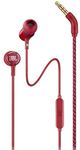 JBL LIVE100 in-Ear Headphones with in-Line Microphone and Remote (Red)