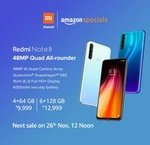 Redmi Note 8 starting from Rs.9999 (Live at 12 Noon)