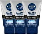Nivea Men Oil Control All In 1 Face Wash 100 ml - Pack of 3 Face Wash  (300 ml)