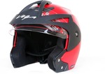 Vega crux open face helmet (Red)