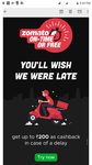 Zomato Ontime food delivery or Free