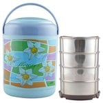 Cello Cosmos Insulated 4 Container Lunch Carrier