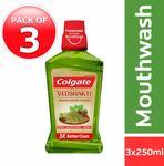 Colgate Plax Mouthwash, Vedshakti - 250 ml (Pack of 3)