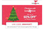 BookmyShow 50% Off UPTO ₹100 on movies tickets