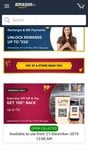 Amazon scan and pay using UPI and get 50 rupees back on minimum transaction of 100