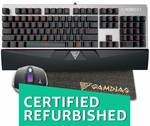 (Renewed) Gamdias Hermes E1 Responsive Lighting Mechanical Gaming Keyboard with Demeter E2 Optical Mouse and Nyx E1 Mouse Mat