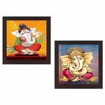 2 Ganesha painting  @ ₹120 Wens 'Indian Deity' Wall Hanging Painting (MDF, 35 cm x 71 cm x 2.5 cm)