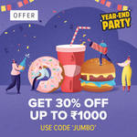 Swiggy 30% off upto Rs. 1000 on Minimum order value Rs. 500