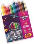 Cello ColourUp Round Shaped Color Pencils  (Set of 24, Multicolor)