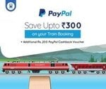 Goibibo PayPal offer  on train tickets:flat 125rs off on minimum booking of 200rs