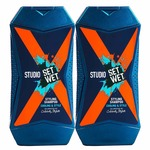 Set Wet Studio X Styling Shampoo For Men - Cooling & Style 180 ml (Pack of 2)