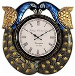 RoyalsCart Peacock Handcrafted Analog Wall Clock