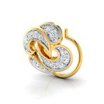 Pristine Fire Yellow Gold and Diamond Nose Pin for Women