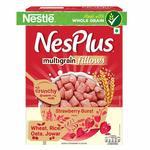 Pantry : Nestle NesPlus Breakfast Cereals, Multigrain Fillows - Strawberry Burst, 500g