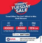Easemytrip Terrific Tuesday :- Get 10% Discount upto 10000₹ on International Flights & Get 35% Discount upto 8000₹ on International Hotels using Kotak Mahindra Bank Cards