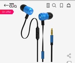 Boat Bassheads 238 Wired Earphones With Mic (Blue)