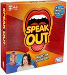 Hasbro Speak Out Game, Mouthpiece Challenge Game For Families and Kids Ages 16 and Up, Includes 5 Mouthpieces