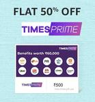 Times Prime E-Gift Card | 50% OFF | ₹499.5