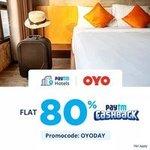 Flat 80% Cashback on OYO Hotel Bookings