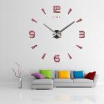 Wall Clock with Frameless 3D Mirror Surface Decorative [DIY]