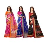 Bhagalpuri Traditional Saree (Pack of 3) @ just Rs. 639 | Use Code: OFFER20