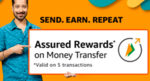 Amazon send money and get assured cashback (5 times)