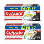 Colgate Total Charcoal Anticavity Toothpaste - 185gm (Pack of 2) @ 189