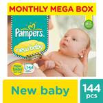 Pampers Active Baby Diapers, New Born (144 Count)