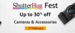 Amazon ShutterBug Fest :- Upto 30% Off on Cameras & Accessories