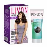 Livon Serum For Dry & Unruly Hair, 100 ml with Free Ponds Oil Control Face Wash, 50 gm