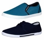 Chevit Men's Combo Pack of 2 Casual Shoes (Loafers & Sneakers Shoes)