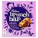 Cadbury Brunch Bar Raisin, 6 Bars & Cadbury Brunch Bar Choc Chip - 6 Bars