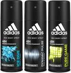 Adidas Deodorant Body Spray Combo (pack of 3)