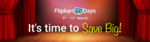 Flipkart TV Days - Up to 50% off + Extra 10% off on Prepaid Order