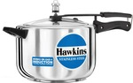 Hawkins Stainless Steel 8 L Induction Bottom Pressure Cooker  (Stainless Steel)