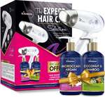 St botanica Shampoo+conditioner+syska hair dryer The Expert hair selection with morrocan Argan shampoo & Coconut conditioner 300 ml