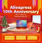 Aliexpress 10th anniversary sale Mar 27 - Mar 31 PT - up to 50% off + Extra coupon Discounts