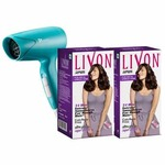 Livon Serum for Dry & Unruly Hair With Moroccan Argan Oil (Pack of 2) + Syska Hair Dryer