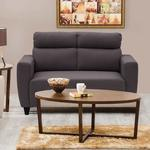 Home Centre Emily Fabric Sofa- 2 Seater Brown + Save 5% with coupon